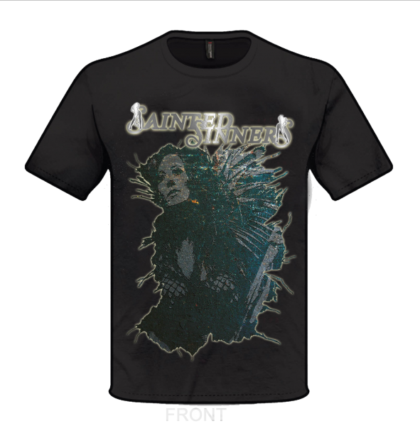 Front: SAINTED SINNERS - Cover-Shirt with backprint