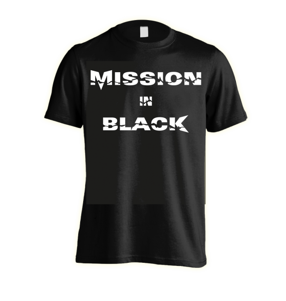 Front: MISSION IN BLACK - Bandshirt