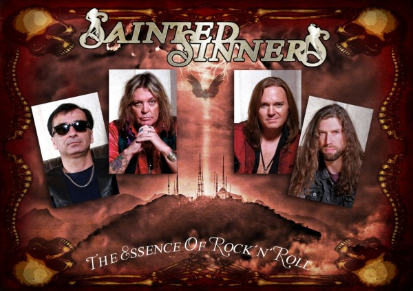 SAINTED SINNERS - Poster DIN A2, signed (Back With A Vengeance)