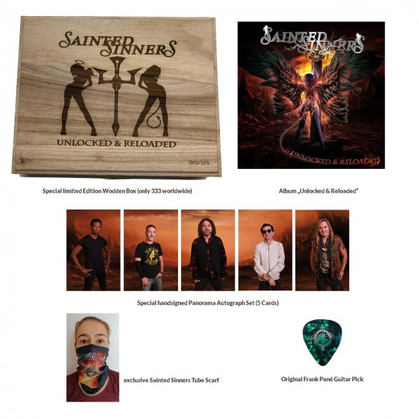 SAINTED SINNERS - Unlocked & Reloaded Limited Edition Holzbox