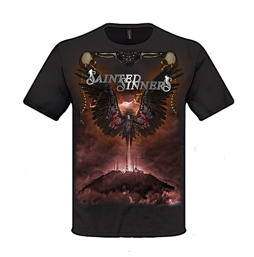Front: SAINTED SINNERS - Cover-Shirt Back With A Vengeance