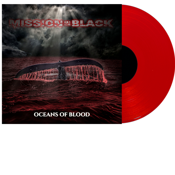 Mission in Black - Oceans of Blood Front-Cover Red Vinyl
